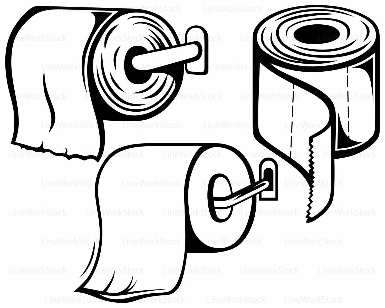 Toilet Paper Svg Toilet Paper Clipart Toilet Paper Svg