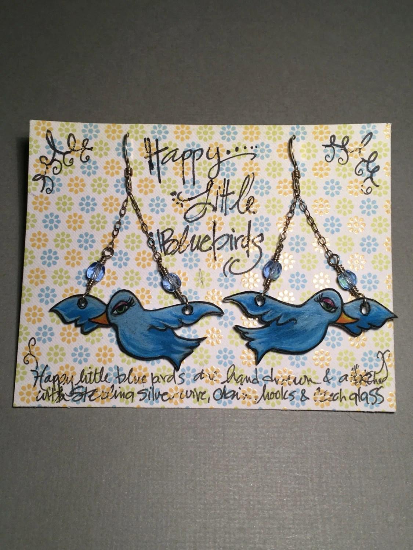 """Earrings """"Happy Little Bluebirds"""""""
