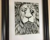 Elliott Lion Art Print - ...