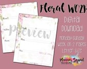 Floral Week on 2 Page (WO...