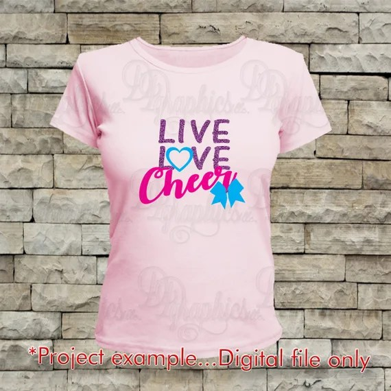 Download Live Love Cheer/ SVG File/ Jpg Dxf Png/Digital Files from ...