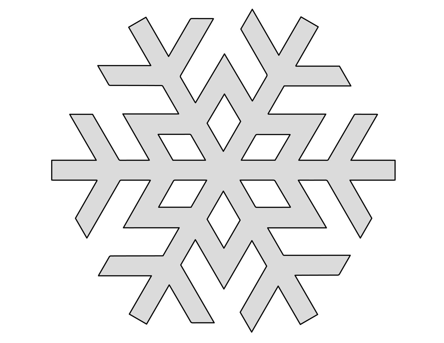 6 H String Art Snow Flake 1 Pattern Template From