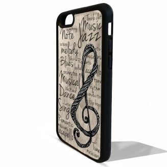 Music note musical treble clef quote phrase print pattern rubber gel silicone phone case cover for iphone 5 5s SE 5C 6 6s 7 plus