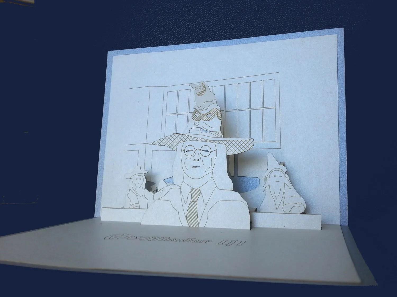 3D Pop Up Greeting Card HARRY POTTER HOGWARTS School Of