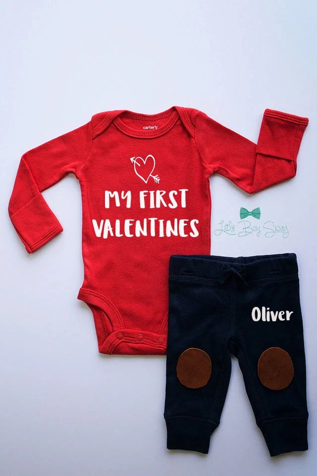 Items Similar To Boys Valentines Day Personalized Outfit