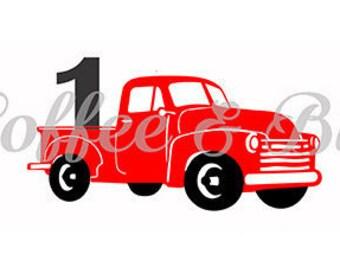 Vintage Christmas Truck Svg Silhouette Cricut Vinyl