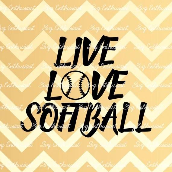 Download Live Love Softball SVG Softball SVG Softball ball Svg