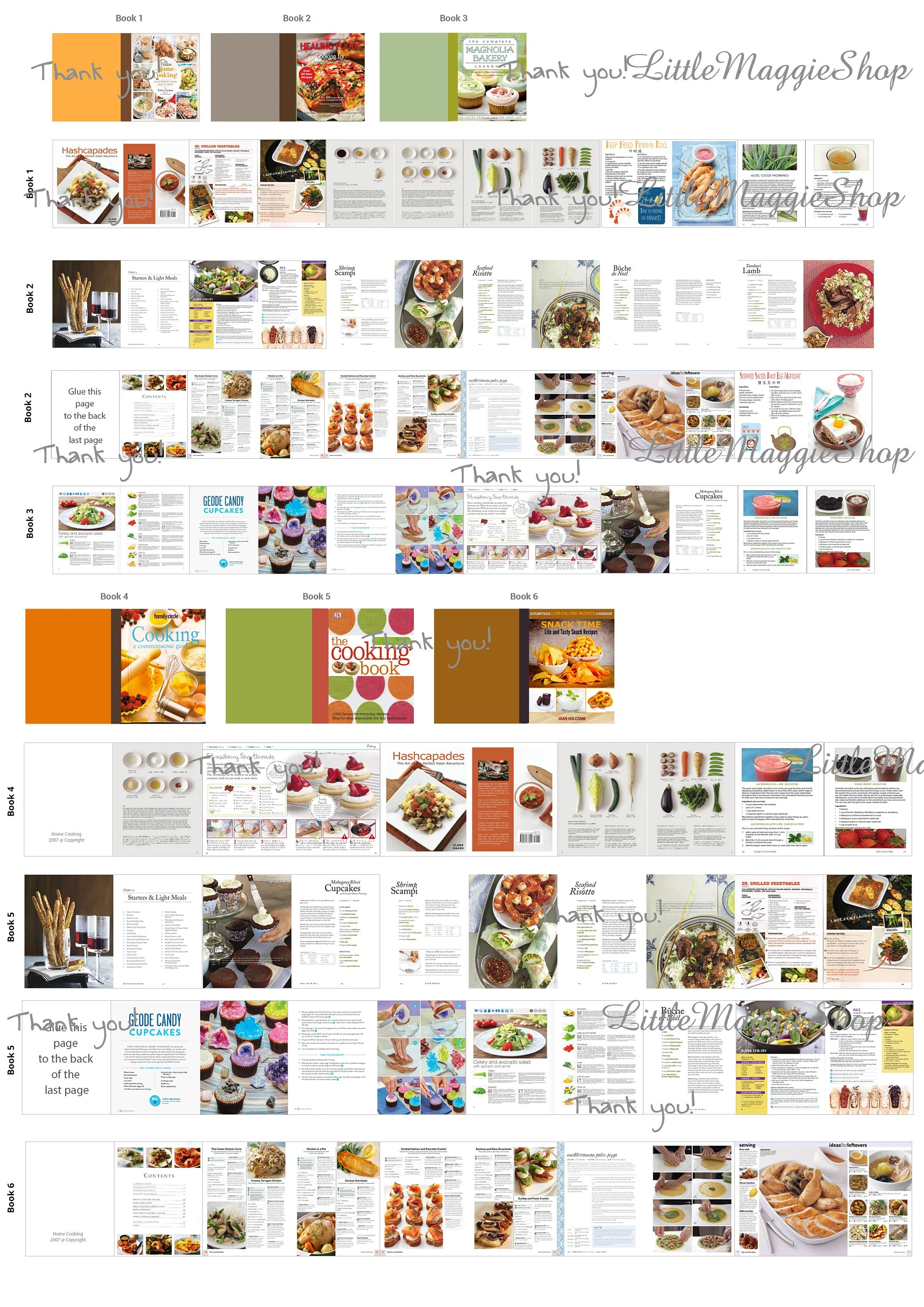 Miniature Cooking Books With Pages Dollhouse Printable Sheet