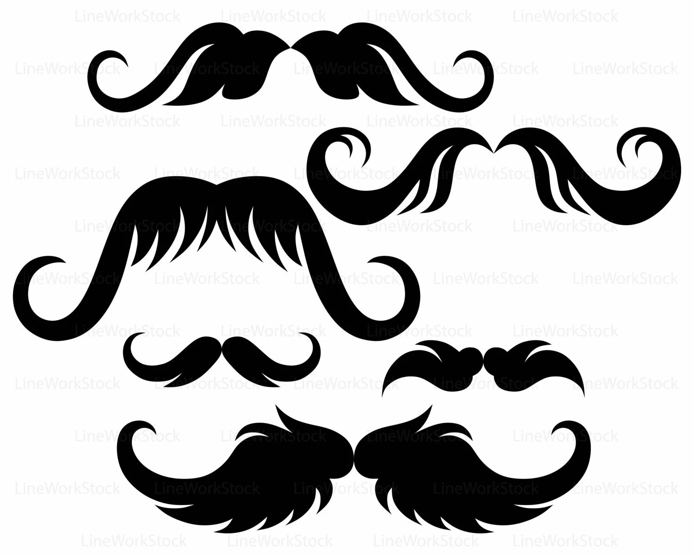 Mustache Svg Mustache Clipart Mustache Svg Mustache