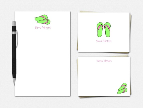 Flip Flop Stationery