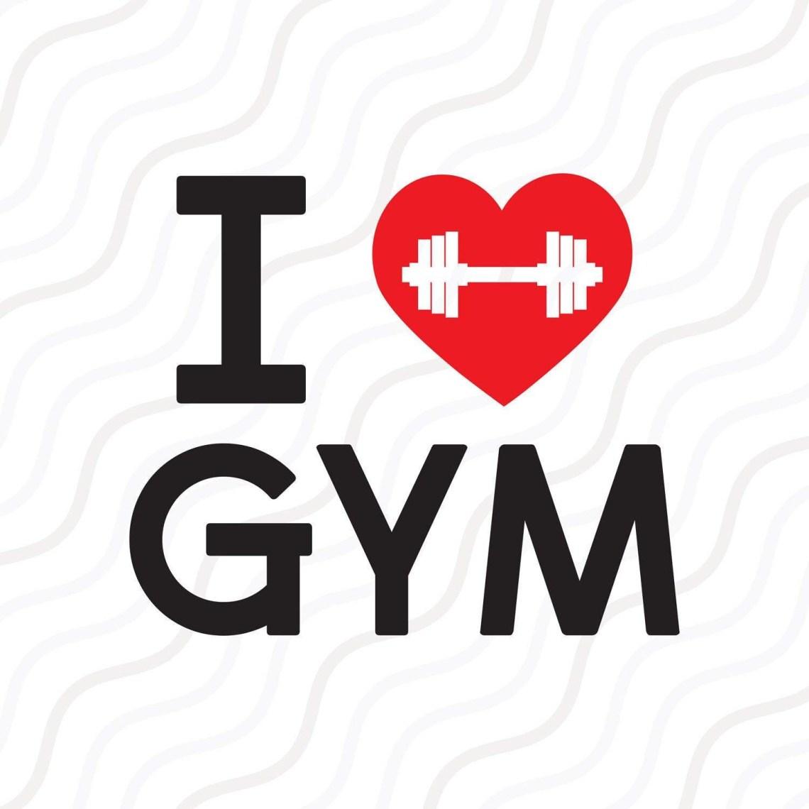 Download I Love Gym SVG Work Out svg Gym SVG Barbell SVG Cut table