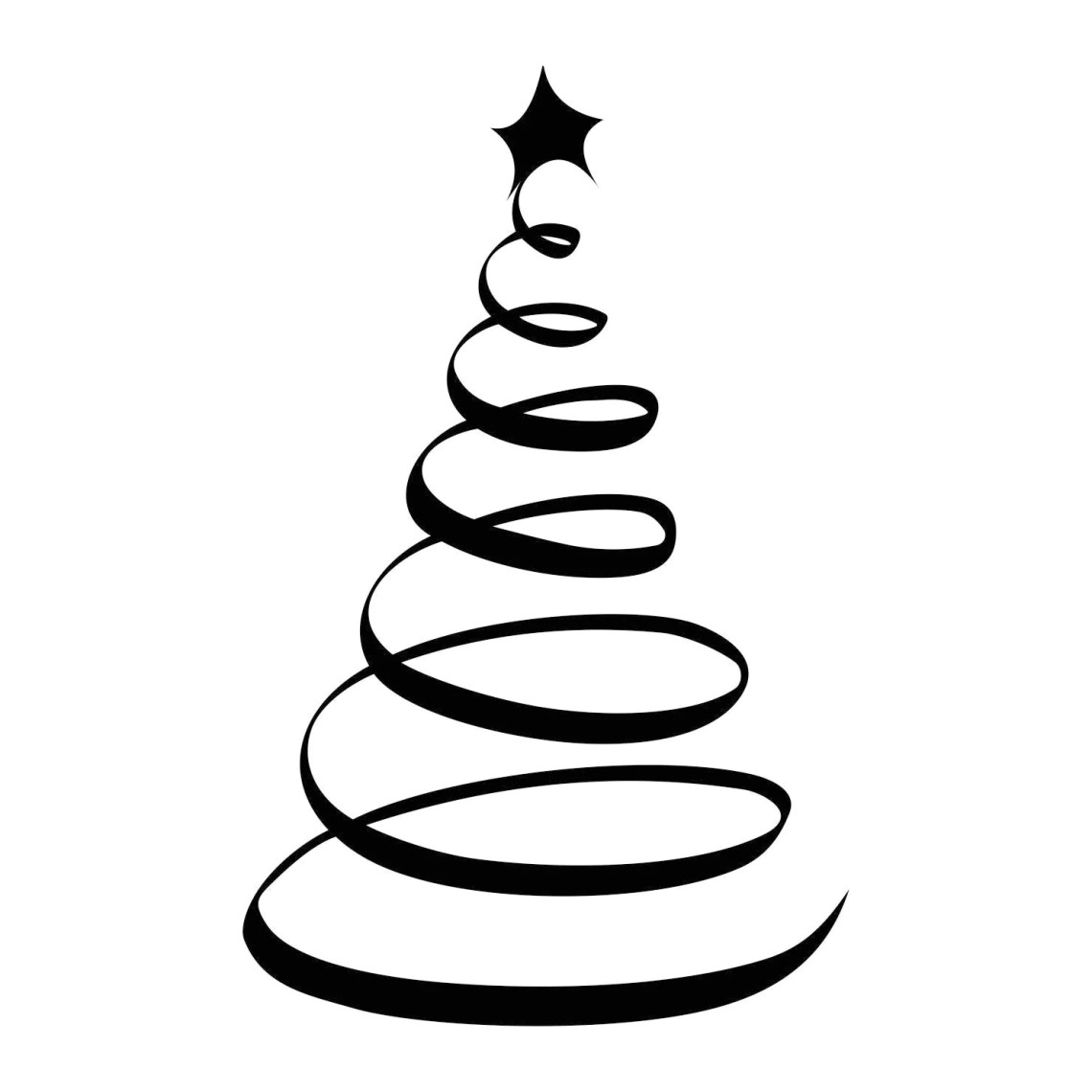 Download Christmas Tree Star Ornament Graphics SVG Dxf EPS Png Cdr ...