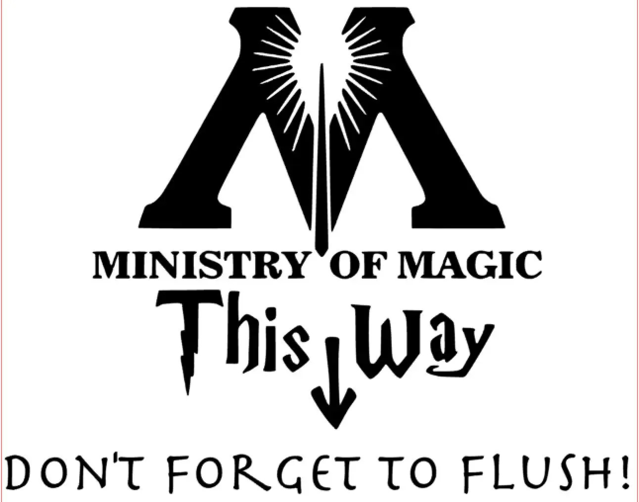 Ministry Of Magic This Way Harry Potter Inspired Vinyl