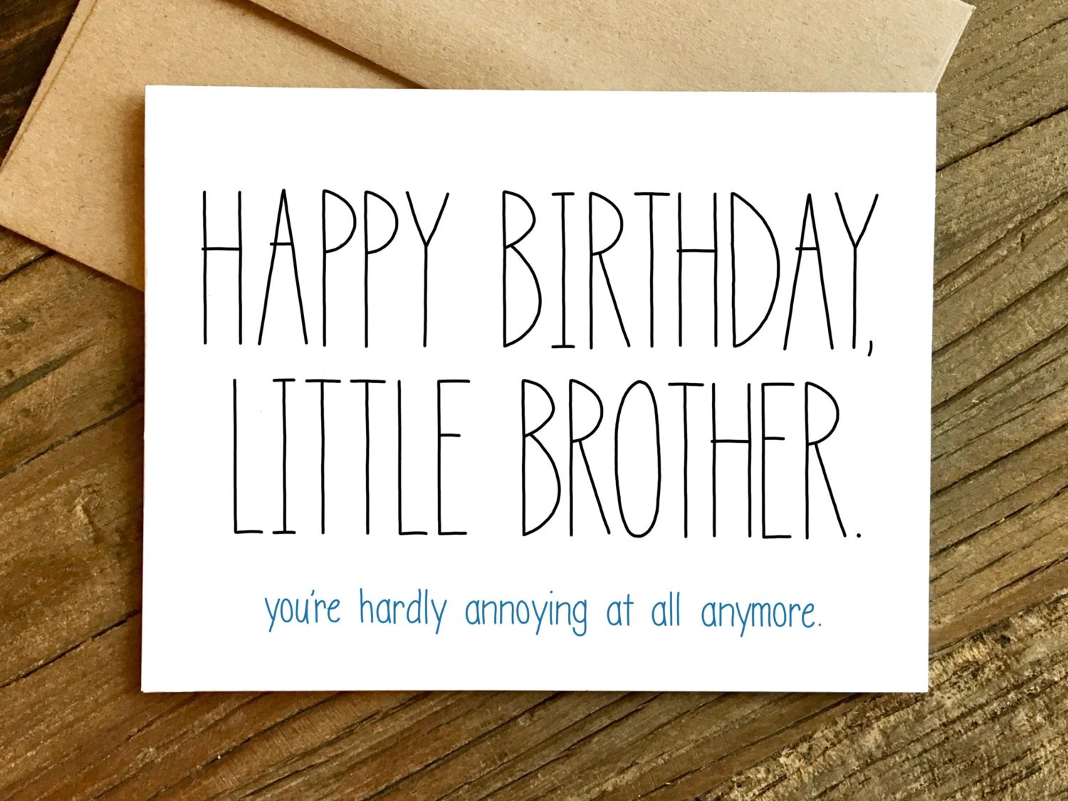 Funny Birthday Card Birthday Card For Brother Brother