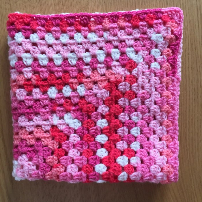 Pink Granny square Moses ...