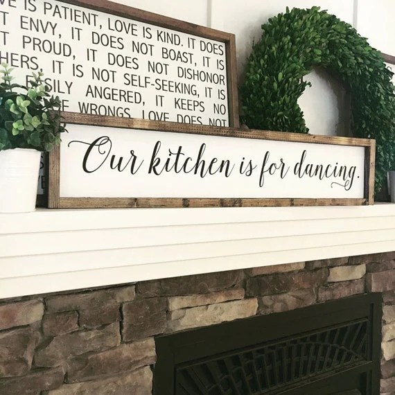 Our Kitchen Is For Dancing Kitchen Decor Kitchen Sign