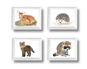 Woodland Animal Art Print...