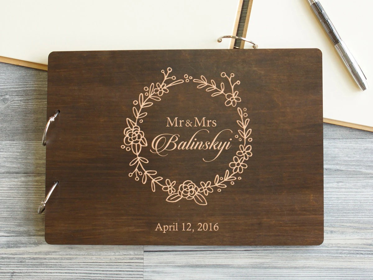 Wedding Guest Book Wedding Gift Personalized Guest Book