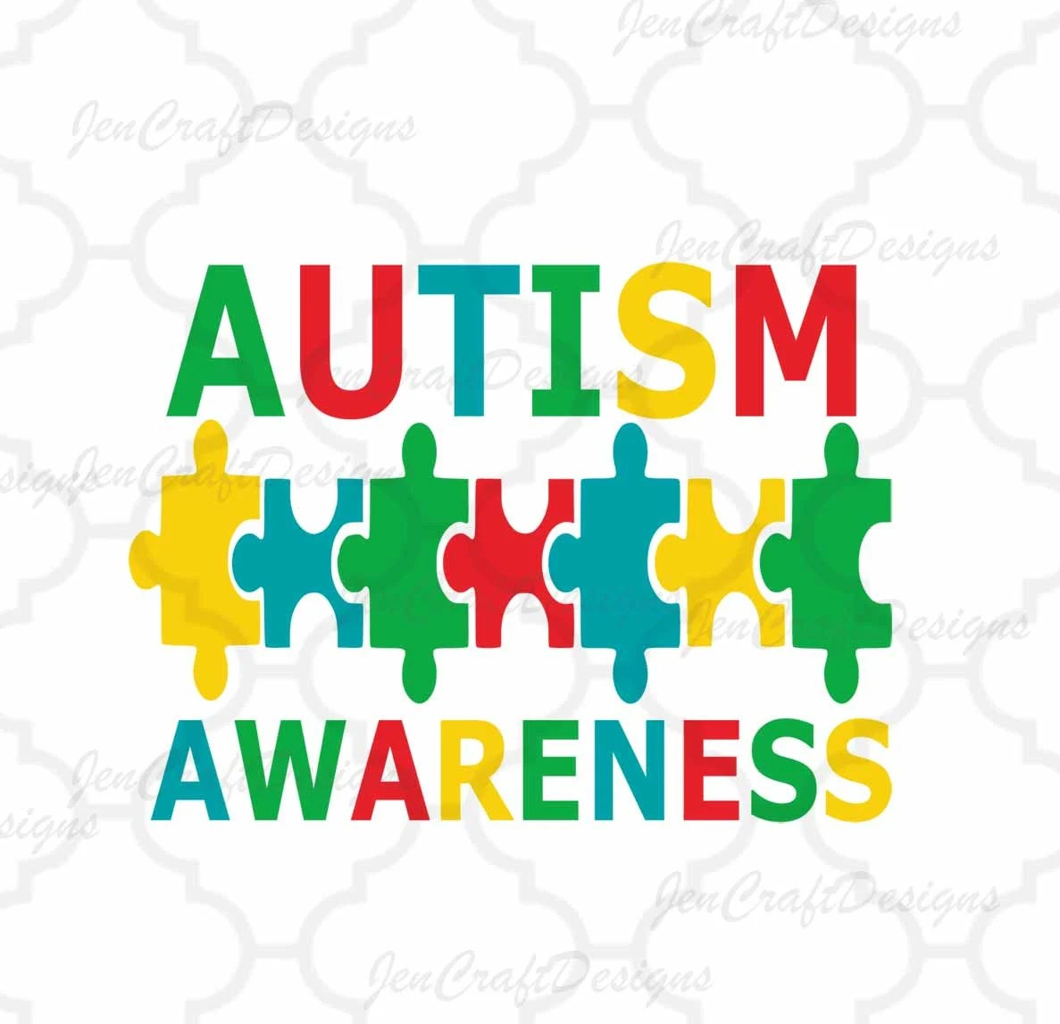 Autism Awareness Svg Dxf Eps Amp Printable Puzzle