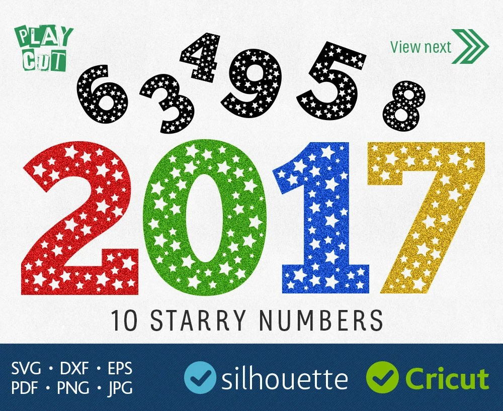 STAR NUMBERS SVG Dxf cut files Cricut Download digital vector