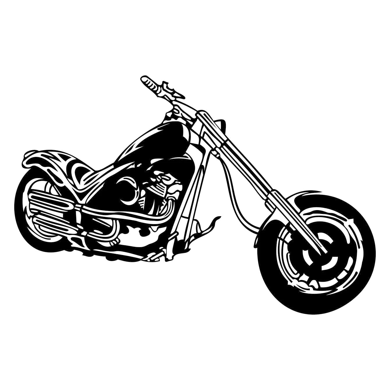 Motorcycle Chopper Graphics Svg Dxf Eps Cdr Ai Vector