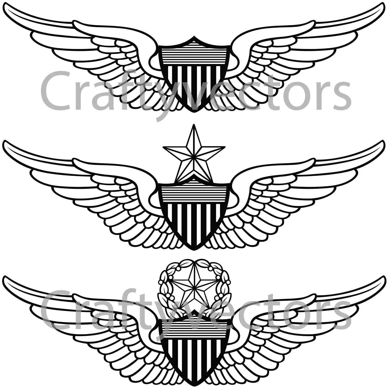 Army Aviator Wings Vector File