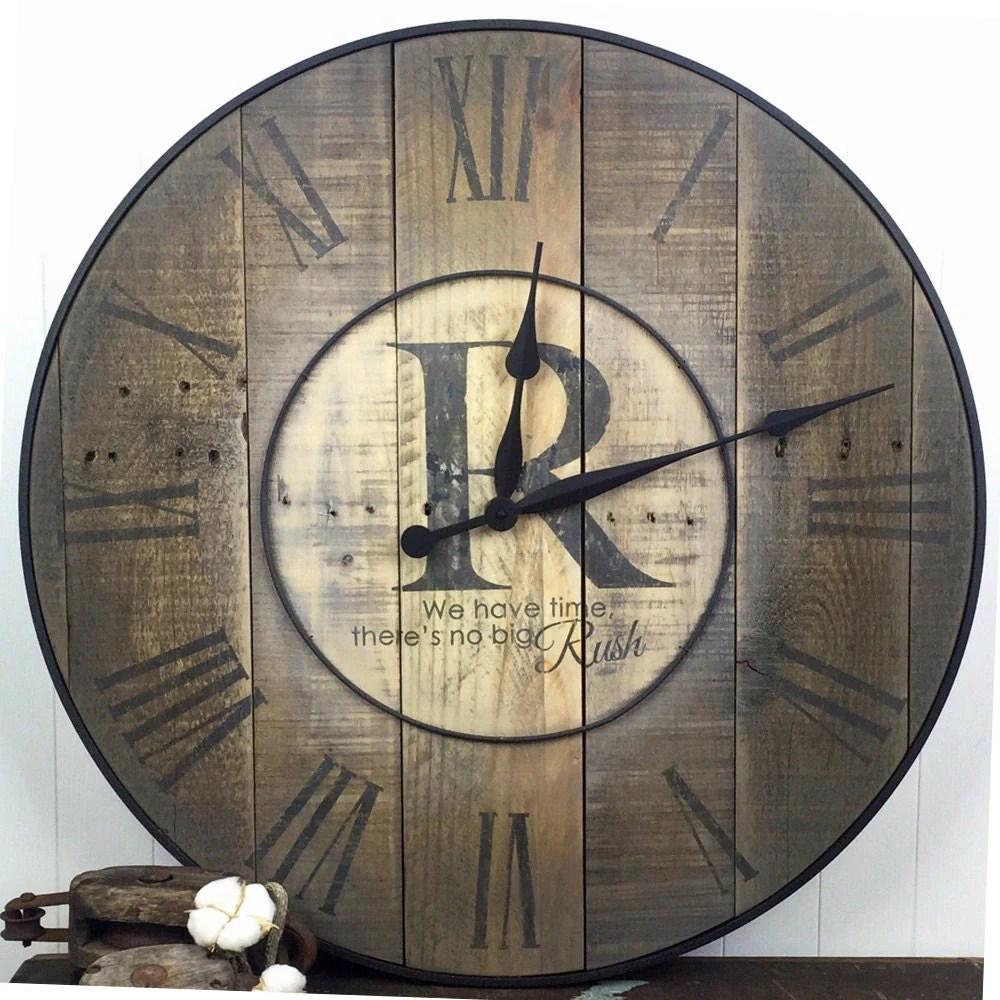 Oversized Wall Clock Family Clock Family Name Clock