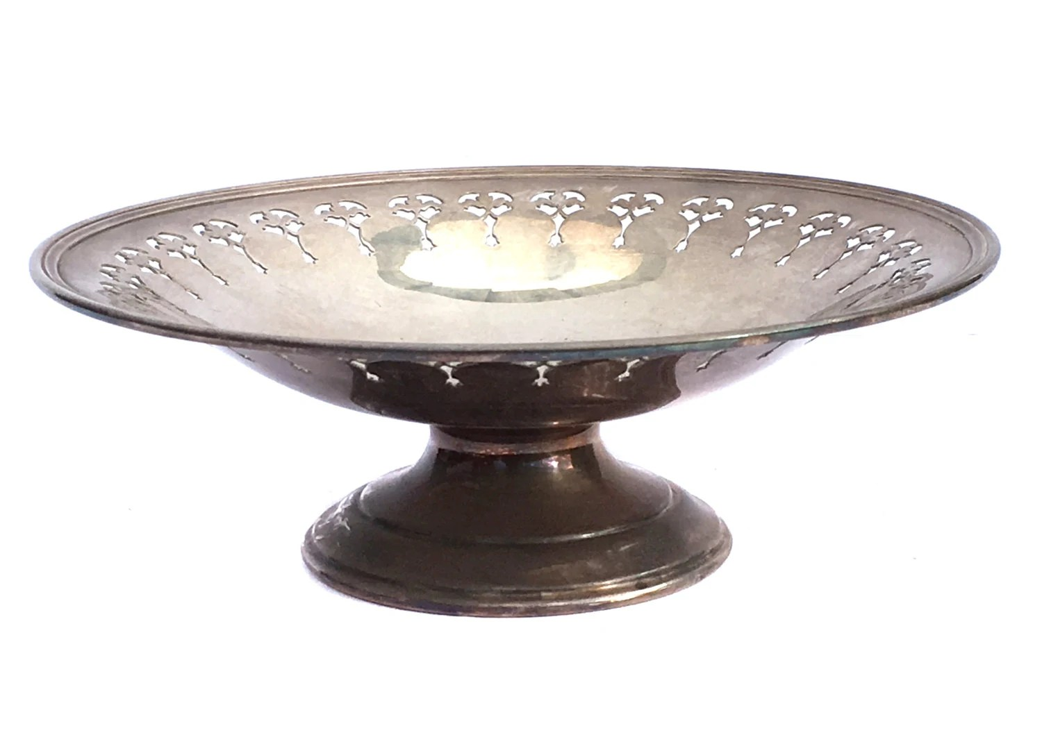 Edwardian Epns Silver Plate Pedestal Cake Stand By