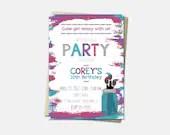 Art Party Invitations - A...