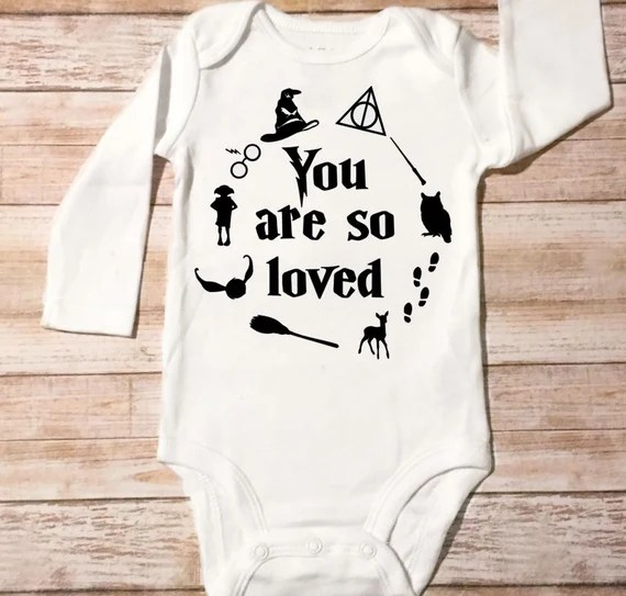 Download Baby Onesie You Are So Loved Harry Potter Wizard Baby Boy or
