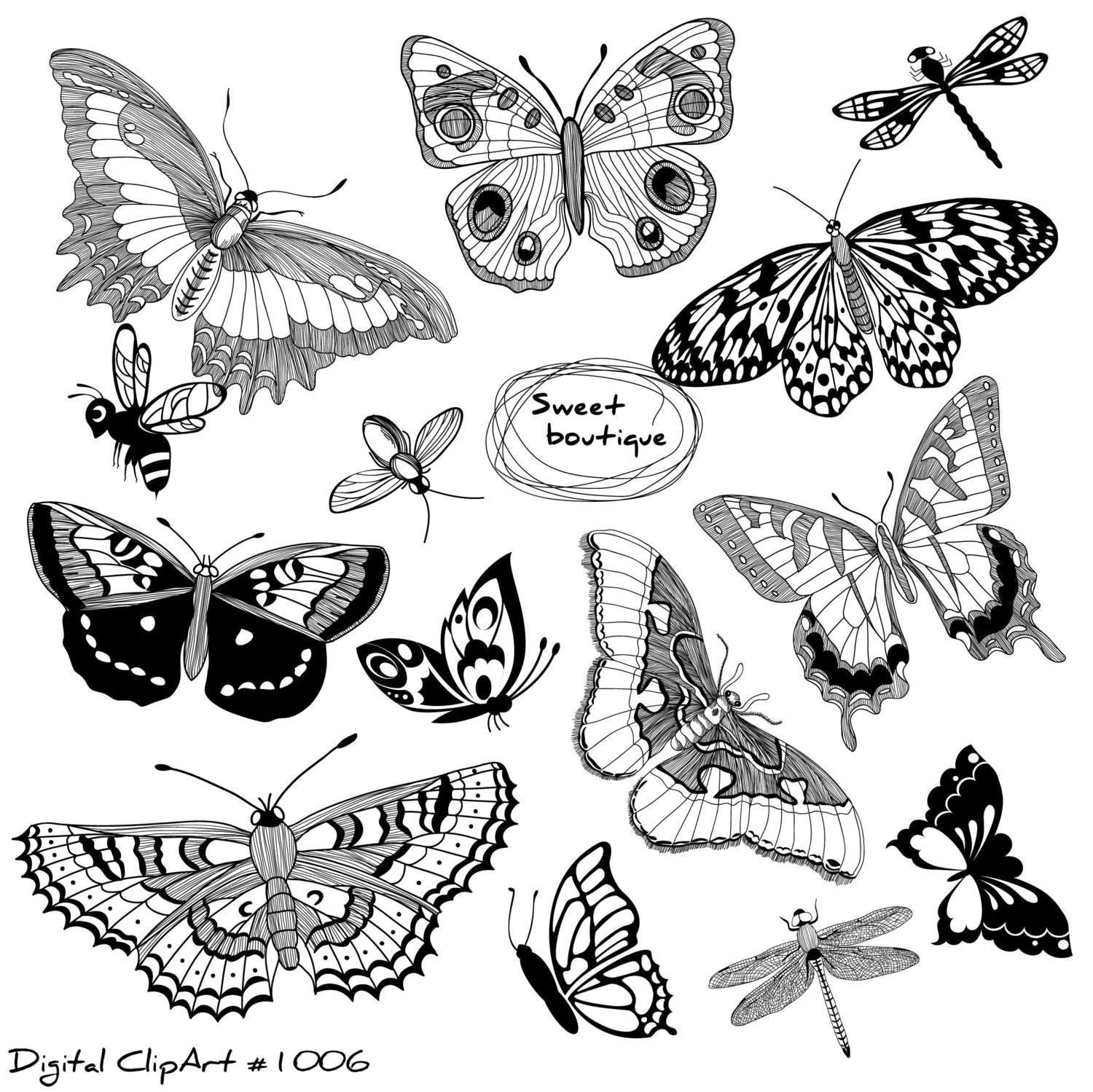 Butterfly Clip Art Butterfly Silhouettes Clipartbutter Fly