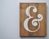 Wedding Ampersand Sign, W...