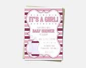 Baby Bottle Invitations -...
