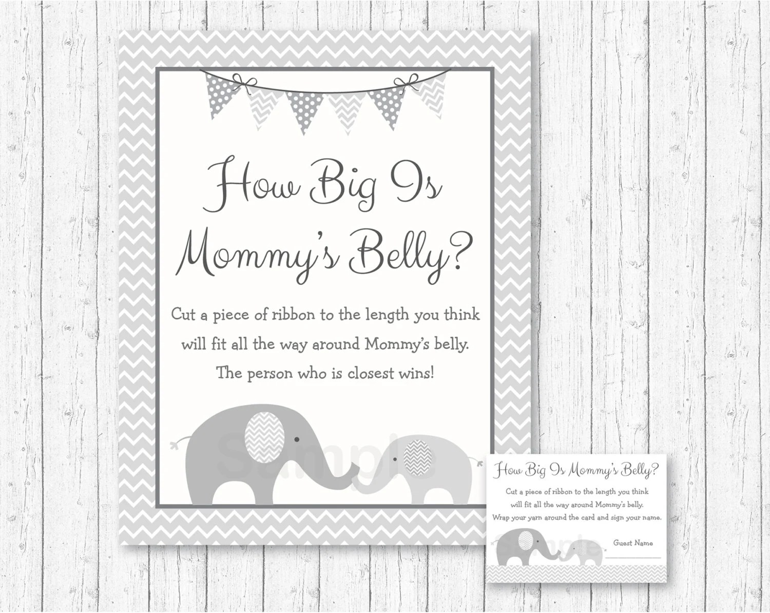 Cute Elephant How Big Is Mommy S Belly Game Elephant