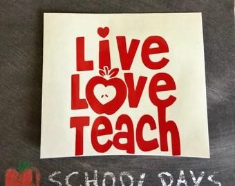 Download Live love teach | Etsy