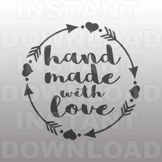 Download Handmade with Love Circle Frame SVG File -Commercial ...