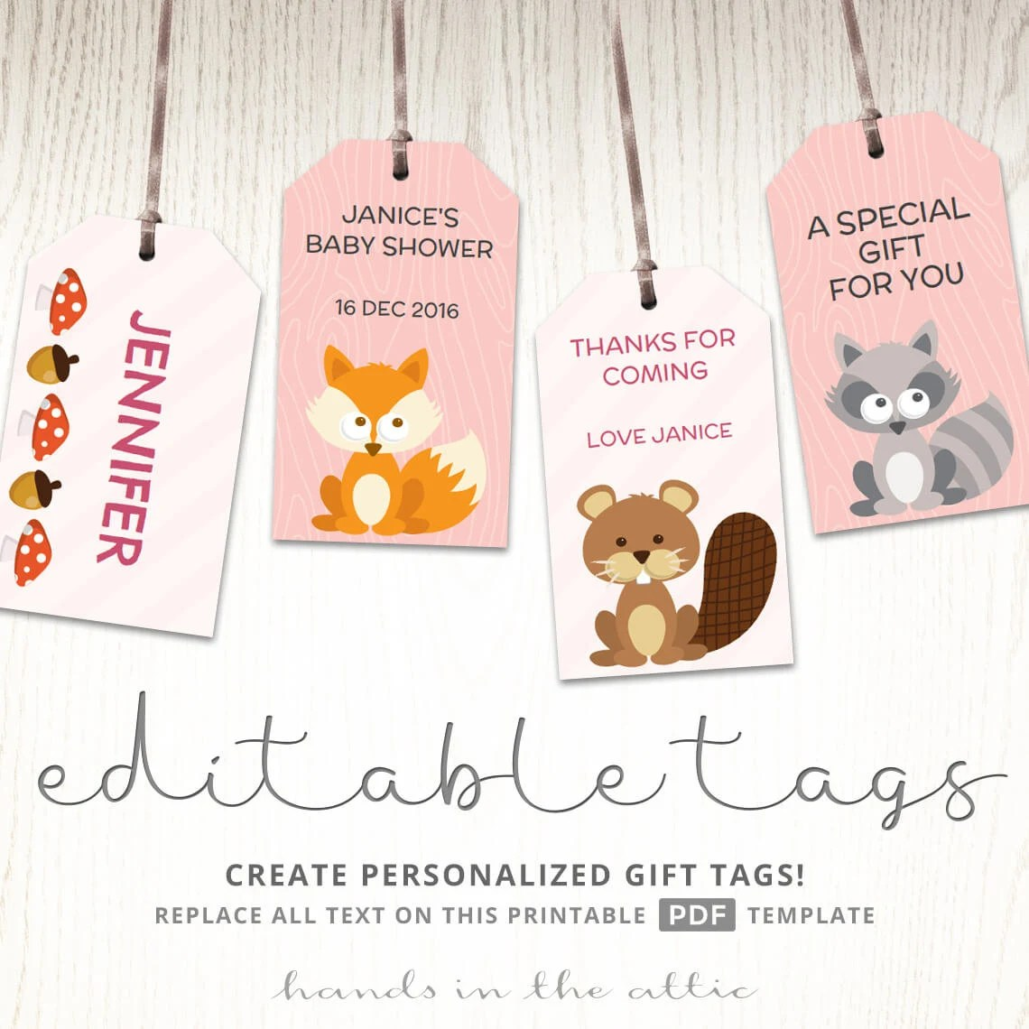 Woodland Nursery Woodland Creatures Woodland Baby Shower T Tag Printable Kids Party Ideas