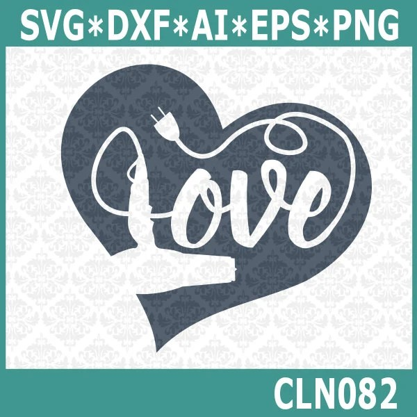 Download CLN082 Hairdryer Hair Stylist Love SVG DXF Ai Eps PNG ...