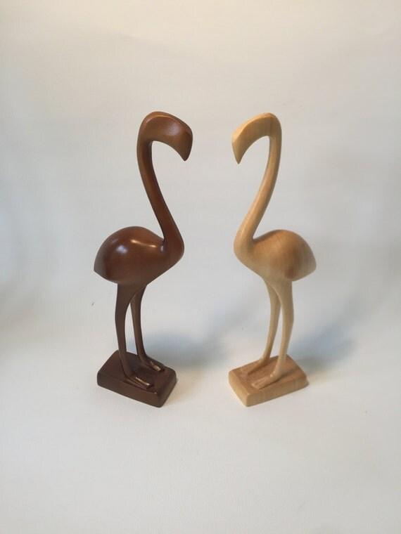Flamingo bird figures mid century modern