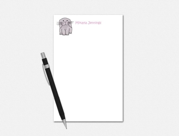 Personalized Bunny Notepad