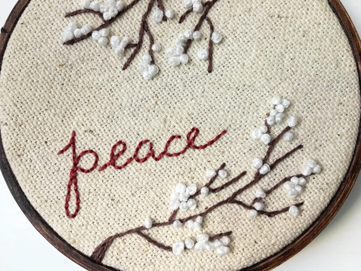 Peace // Hand Embroidered...