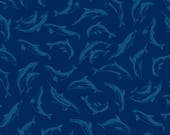Dolphin Fabric, Nautical ...