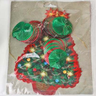 Dangling Cutouts* Hanging Paper Christmas Trees: Vintage Die Cut Paper and Metallic Foil Christmas Decor