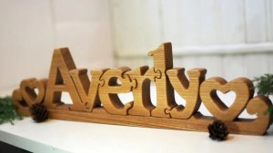 Personalized Wooden Name Puzzle Gift