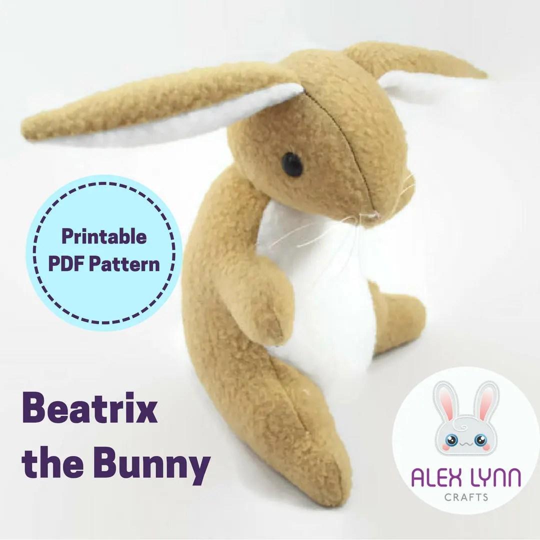 Bunny Plush Sewing Pattern