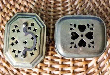 Two Brass Cricket Boxes From India: Trinket Jewelry Display Small Hinged Boxes