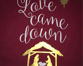 Download Love came down shirt | Etsy