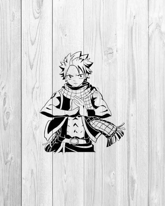 Download Fairy Tail Natsu svg Anime svg Cartoon svg Cricut