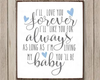 Download Ill love you forever | Etsy