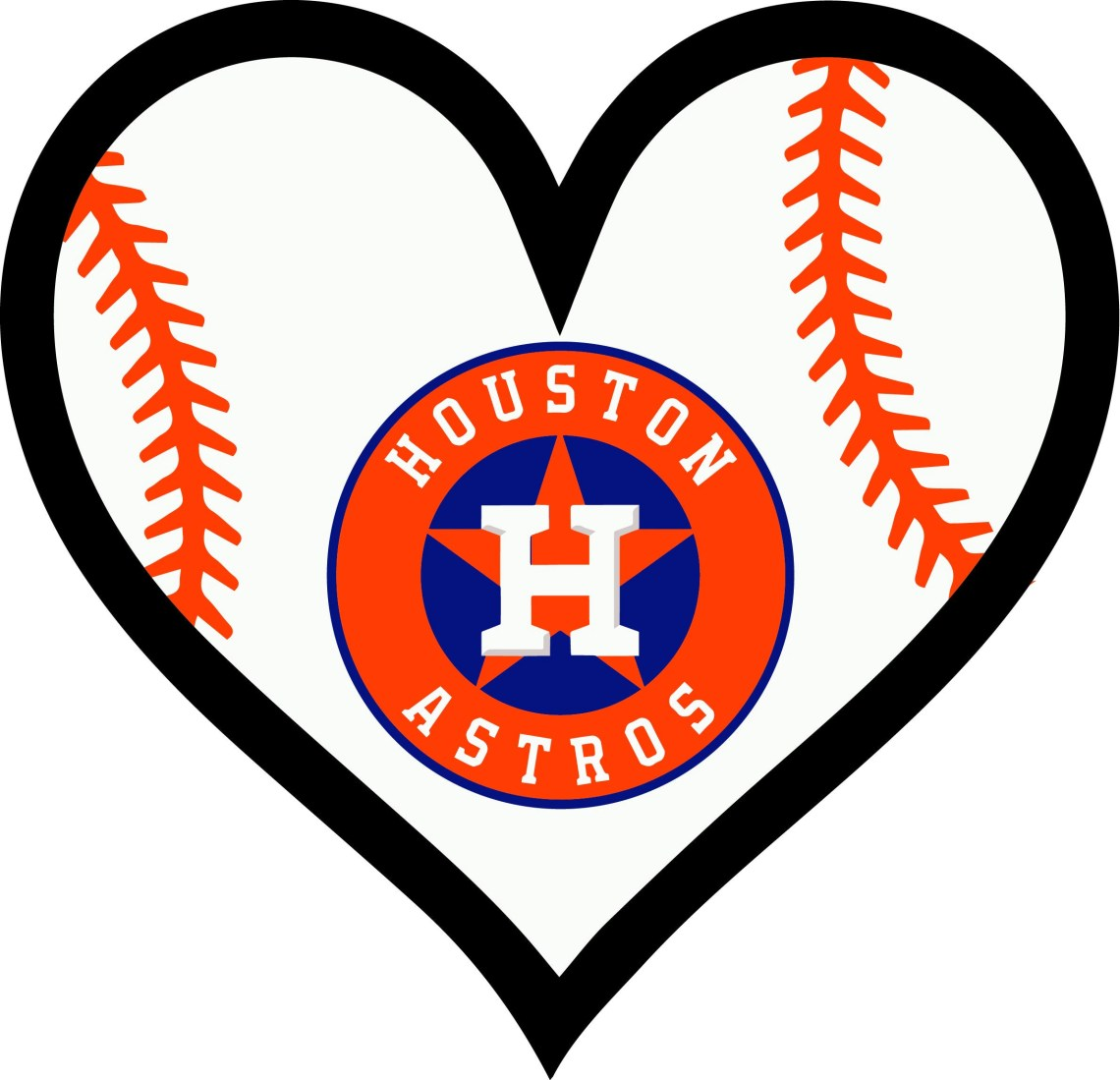 Download Houston Astros Texas Baseball l Love Heart digital for decal